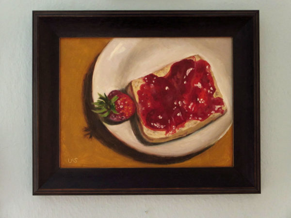 Strawberries in wooden Frame