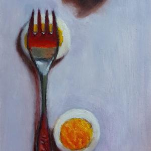 Fork on Egg