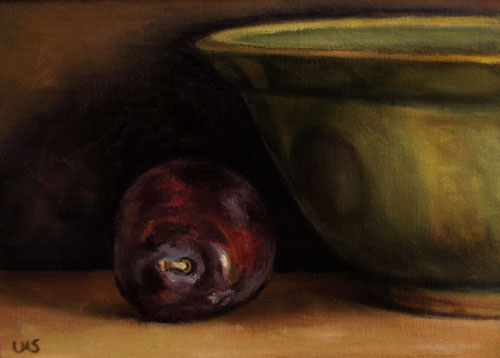 Plum with green Bowl