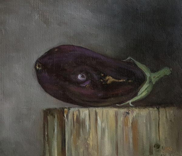 Eggplant on Wood